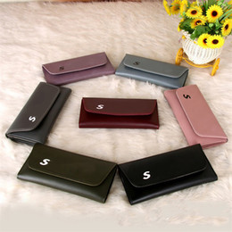 Wholesale Woman Slim Card Holder - Designer Wallets Purse For Women Soft PU Leather Envelope Bag Bi-fold Hasp Wallet Ladies Slim Credit Card Holders With 7 Colors Selection