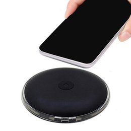 Wholesale wireless ufo - 2018 UFO Fast wireless charger charging Pad With Led Light With Cable With Retail Box