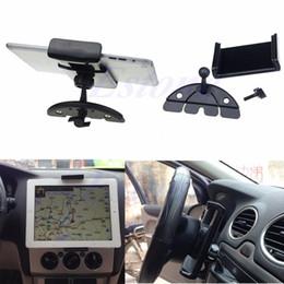 Держатель подставки для планшетов онлайн-Newest Car Auto CD Mount Tablet PC Cradle Holder Stand For Pad 2 3 4 5 Air for  Tab