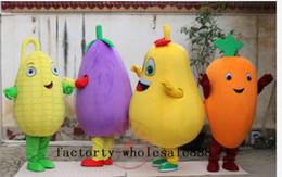 2019 abito di fantasia vegetale Costume adulto della mascotte della verdura della frutta di pubblicità del vestito operato del costume della mascotte del partito di Halloween del vestito operato del fumetto sconti abito di fantasia vegetale
