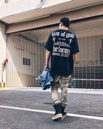 jay z t-shirts Rabatt 18SS Mens Hip Hop Kurzarm T-Shirt FOG Cotton Tees FEAR OF GOD x JAY-Z 4.44 Printed T-Shirt