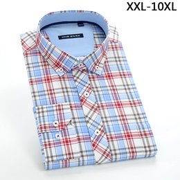 Wholesale Formal Dresses Large Sizes - Men's long sleeve 100%cotton Shirt formal obese high quality fashion super large casual plus size 42 43 44 45 46 47 48