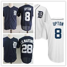 Wholesale discount baseball - Discount ! Mens #28 J. D. Martinez Detroit Cool base jersey stitched white Navy #8 Justin Upton Flex base baseball Jersey S-3XL