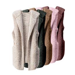 Canada Femmes Gilet D'hiver Chaud À Capuche Outwear Casual Manteau Fausse Fourrure Zip Up Veste Sherpa Veste supplier womens zip up hoodie Offre