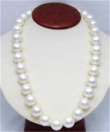 Wholesale 14mm White Stone Beads - whole saleNew 14mm AAA White South Sea Shell Pearl Round Beads Necklace Pearl Jewelry Rope Chain Necklace Natural Stone Women Girl Gift