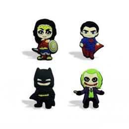 Cadeaux batman en Ligne-Livraison gratuite Batman vs Superman réfrigérateur aimant créatif bande dessinée PVC décoration de la maison réfrigérateur aimants tableau noir autocollants enfants parti cadeau