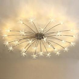 Moderno Led Luz de Techo Flor de Hielo Vidrio Dormitorio Cocina Niños Habitación Lámpara de Techo Accesorios de Iluminación de Diseñador desde fabricantes