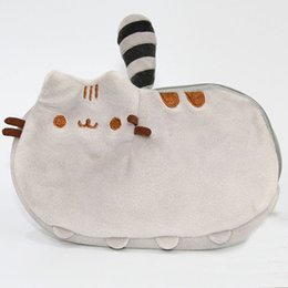 Wholesale Mobile Plush - 18*12cm Plush Purse Cat Stuffed Coin Purse Zipper Anime Mobile Phone Bag XMAS Birthday Party Favor Gifts in stock WX9-467