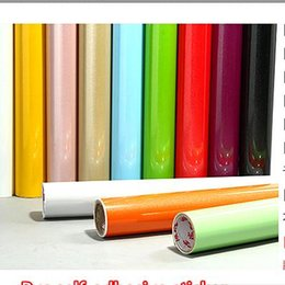 Wholesale Solid Wood Wardrobes Furniture - Wholesale- 0.61M*5M thickening quality paint furniture pvc self-adhesive wallpaper kitchen cabinet wardrobe waterproof for kitchen sticker