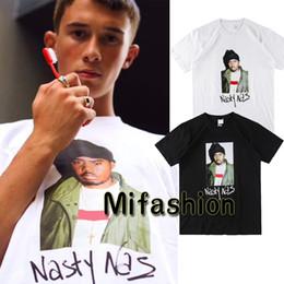 Wholesale Cool Men S - 18ss USA Box logo Hip Hop Nasty Nas PHOTO Tee Skateboard Cool Rapper T-shirt Men Women Cotton Casual Tshirt