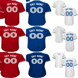 Wholesale Base Number - Mens Womens Kids Toronto Customized with any name & number Blue White Grey Red All Stiched Flex Cool Base Cheap Baseball Jerseys