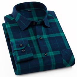 d7039494570 shirts pattern pockets Promo Codes - Men s Brushed Flannel Long Sleeve  Shirt Single Patch Pocket Colorful