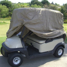 Wholesale Bag For Cart - OUTAD Waterproof 2 4 Passengers Car Detector Golf Cart Storage Cover For EZ Go Club Car Taupe for Passenger Club