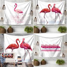 Wholesale Plain Hand Towels - Beach Towel Superfine Fiber Wall Hanging Cushion Printing Polyester Fiber Decorative Carpets Big Yoga Mat Flamingo Tapestry 20ma V
