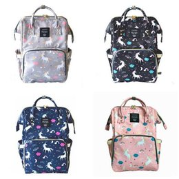 Wholesale Boy Diaper Bags - Diaper Bag Unicorn Multi-Function Waterproof Travel Backpack Nappy Bags for Baby Care Kids Backpacks Best Gifts 18 Styles DHL Free Shipping