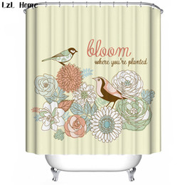 Wholesale Bathroom Cheap - LzL Home birds pattern shower curtains magpie lotus bathroom curtains cheap high quality modern fashion style bath decoration
