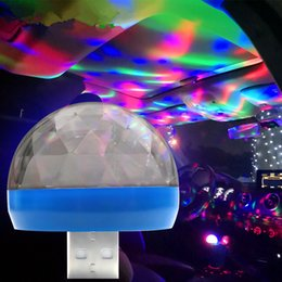 Universelle übereinstimmung online-LED Auto USB Atmosphäre Licht DJ RGB Mini Bunte Musik Sound Lampe für USB-C Telefon Oberfläche Genießen Fußballspiel
