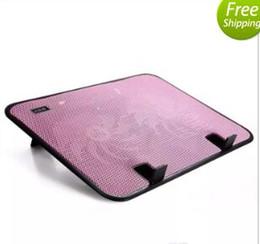 Almohadilla de enfriamiento de doble ventilador online-Refrigerador portátil USB Double Fans Ventilador Cooling Pad para portátil de 10 a 14 pulgadas