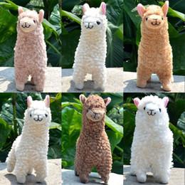 natal enchido animais venda Desconto Kawaii Alpaca Brinquedos De Pelúcia Arpakasso Llama Bicho De Pelúcia Bonecas Crianças Multi Color Presente de Natal de Aniversário Venda Quente 11wy WW