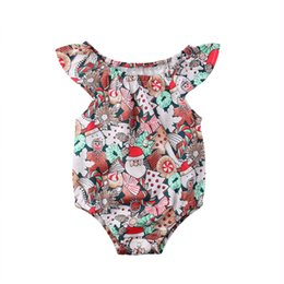 1c6b2468195a 2019 Emmababy New Cute Newborn Kid Baby Girl Flying Sleeve Christmas Jumpsuit  Bodysuit Clothes
