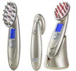 Wholesale Vibrating Massage Machines - USB Rechargeable Laser Hair Comb Photon Vibrating Scalp Massage Hair Regrowth Stimulate Brush Growth Massage Machine