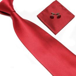 Abotoaduras simples on-line-Melicio laços do pescoço Negócio simples mens gravata conjunto de poliéster bolso toalha abotoaduras lenço frete grátis