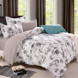Wholesale orange flowered comforter - flowers queen bedding set comforter cover double bed linen Bedclothes white bed-clothes set family king size for US JP UK AU FR