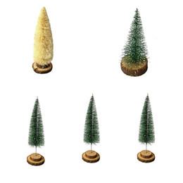 2018 christmas desktop miniature small pine tree tabletop decoration party fastival mini xmas tree ornament - Miniature Christmas Decorations Uk