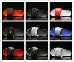 Wholesale Indoor Leather Basketballs - New 2018 Hydro 7 Sandals Men Women Sandy Beach Sports Basketball Shoes Casual Sneakers High Quality Black White Red Slippers Size 36-47.5