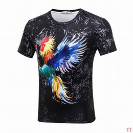 Wholesale Top Cock - Summer fashion O-neck short sleeve cotton men women hip hop tshirt 3d cock print design dancer casual punk tops tees shirt S-3XL