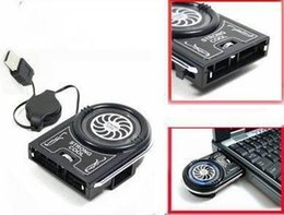 Wholesale Cool Cases For Laptop - Wholesale New Dropship New Mini Vacuum USB Case Cooler Cooling Fan For Notebook Laptop