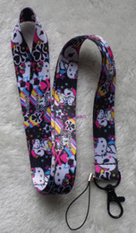 Wholesale kitty cell phone - Hot Sale! 20 pcs Popular Hello Kitty with unicorn Key Chains Mobile Cell Phone Lanyard Neck Straps Favors