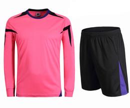 Homens faculdade futebol on-line-2016 Homens Juventude Camisas de Camisas de Futebol de Manga Longa Curto Colégio respirável Clube de Futebol Conjunto de Treinamento de Equipe