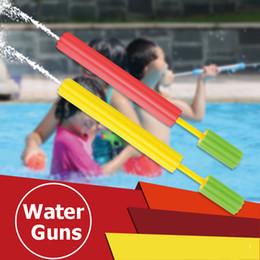 Wholesale wholesale toys guns machine - 24Pcs set Colorful Children Water Gun Series Bubble Water Cannons Kids Toys EVA Foam Drawn Water Fun Gun Pump Toy Sports Toys
