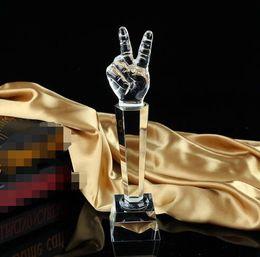 cristais de canto Desconto Vocais da música Voice Cup Microfone Prêmio Troféu Canto de Cristal Lembrança Artesanato Decoração de Casa 30 cm de Altura