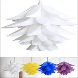 Argentina 55cm Luces colgantes de Lotus Sombra E27 Lámparas de cuatro colores en el techo Luces colgantes decorativas del cordón del LED luces llevadas cheap ceiling lights cords Suministro