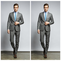 Wholesale Cheap Slim Black Tie - 2018 Custom Made Men Groom Wedding Suits Two Buttons Slim Fit Grooms Tuxedo Two Piece Cheap Business Suit(Jacket+Pants+Tie)