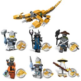 Ninja Movie Ninja Figura Selva Flashback Lord Garmadon Sensei Wu Hammer Head Gran White Golden Dragon Mini Building Block Toy desde fabricantes