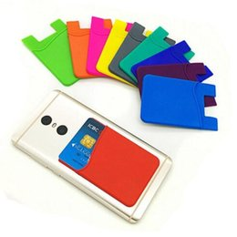 Wholesale iphone 3m new - New Universal Silicone Wallet Credit Card Cash Pocket Sticker Adhesive Holder Pouch Phone 3M Gadget for Samsung S8 S9 iphone x 8 7 6 6S plus