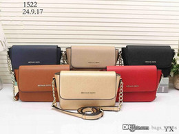 Wholesale Rhinestone Cross Wallet - Fashion Women M Chain wallets Bags Leather Famous Brand Designer Lady Clutch Top Shoulder Cheap Bag