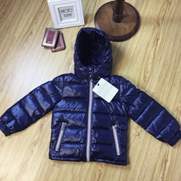 Wholesale Black Jacket Girl - Winter Jacket New coming Brand Hooded Kids Girls Winter Coat Long Sleeve WindProof Children Down Coat Outwear Warm 4-12 Years