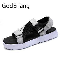 Wholesale Male Hook - GodErlang Male Sandals Beach Shoes Men 2018 Summer New Plastic Beach Shoes Gray Black Hot Sale Fashion 2018 Non Slip Comfortable