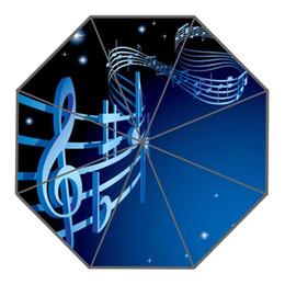 Wholesale umbrellas custom - Custom Top Quality music Logo 43.4 inch Automatic 3 Fold Umbrellas Good Gift For Birthday Friend