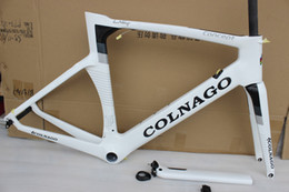 Wholesale Colnago Road Bicycle - colnago concept 6 color choise white black carbon fiber frame 2018 road bike frame carbon fiber framset racing bicycle BB30 BB68 adapter