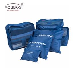 Организатор семейных поездок онлайн-Aosbos 6pcs Traveling Organizer duffel weekend bag families clothes separated men Travel Bags Packing Cubes women Luggage Bag
