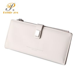 Wholesale Big Green Purse - 3 SIZE 2017 Fashion Women Leather Wallet Short Long Clasp Lovely Girl's Coin Purses Clutch Card Holder Big Capacity Phone Pocket