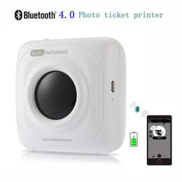 kommerzielle etikettendrucker Rabatt PAPERANG P1 Portable Bluetooth 4.0 Foto Drucker Telefon Drahtlose Verbindung Drucker 1000 mAh Lithium-ionen Teig für Apple iPhone Android