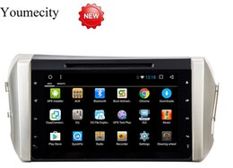 Unidade de navegação na tela de toque on-line-Android 8.1 unidade de cabeça do carro dvd player para Toyota Innova Crysta 1024 * 600 navegação gps wifi Octa core RDS Ips tela