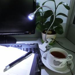 Leitos de leitura flexíveis on-line-Usb clip-on lâmpada de mesa flexível ganso pescoço ajustável usb-eye bedside leitura braçadeira luz para estudo mesa de computador