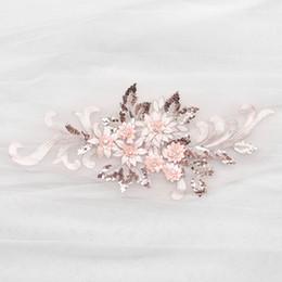Canada Patch 3D en dentelle de broderie avec des perles robe de mariée bricolage dentelle applique D022 Offre